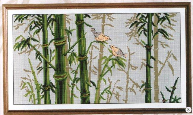 Птички в бамбуке.