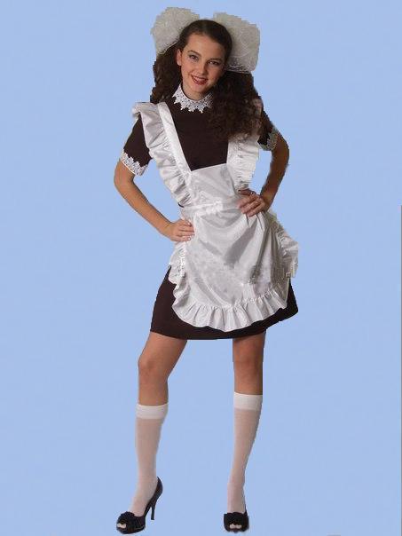Я Одела Школьное Платье И Фартук 47