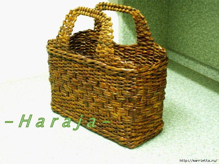 сумки из газетных трубочек. плетение из газет (3) (700x525, 199Kb)
