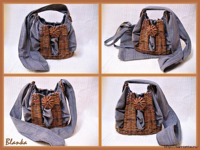 сумки из газетных трубочек. плетение из газет (21) (700x525, 304Kb)