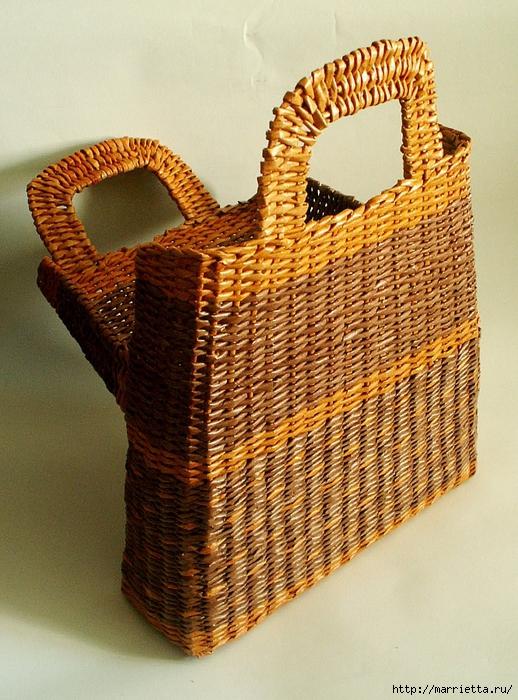 сумки из газетных трубочек. плетение из газет (28) (518x700, 371Kb)