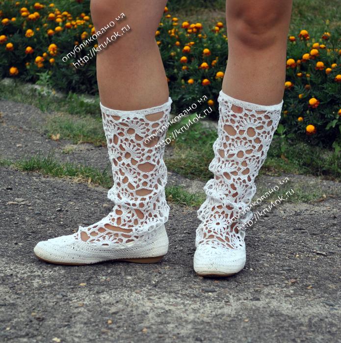 Вязание крючком обувь - Вязание - фото из журналов