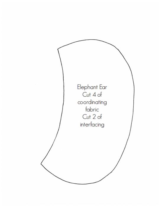 сшить слоника, выкройка слоника (3) (541x700, 67Kb)