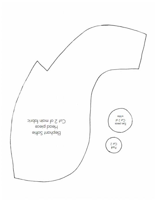 сшить слоника, выкройка слоника (4) (541x700, 75Kb)