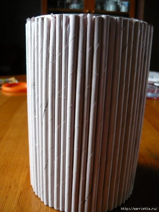 Декорирование предметов газетными трубочками (5) (525x700, 236Kb)
