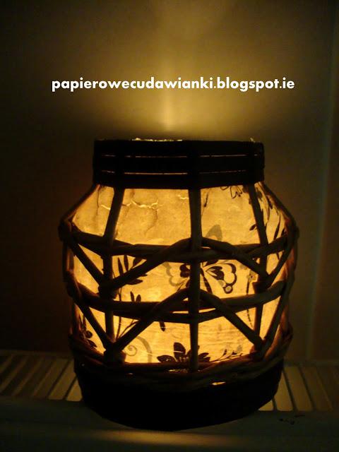 Плетение из газет. Винтажный фонарь из банки (2) (480x640, 79Kb)