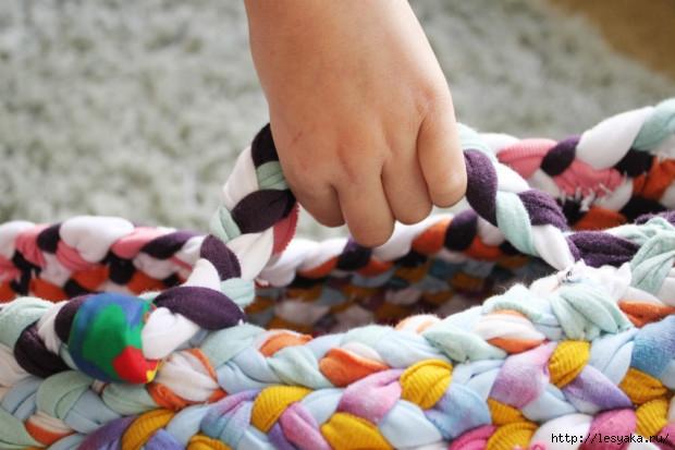 Косички из ткани