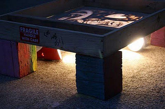 Световой стол  из контейнеров икеа 148