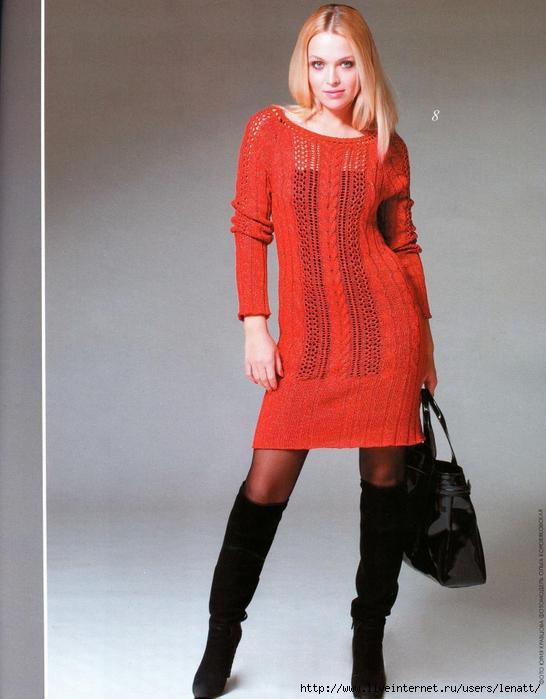 Платья ручного вязания на спицах