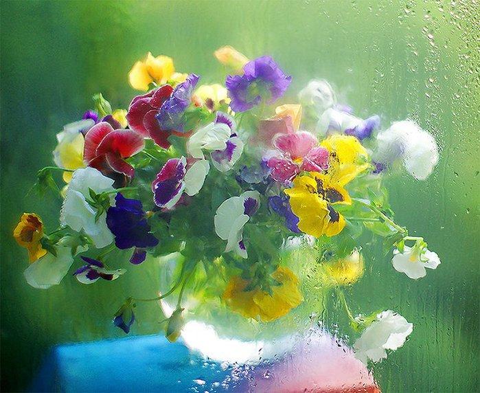 Картины из искусственных фруктов и цветов фото