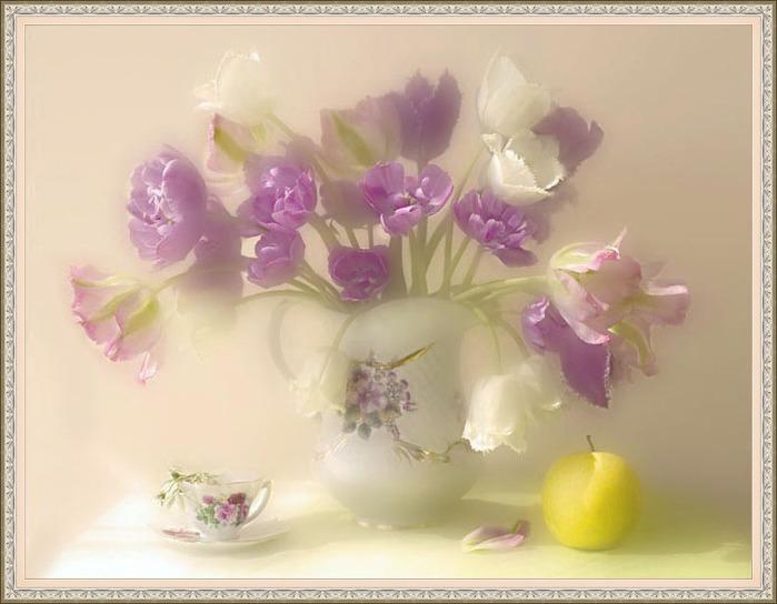 Пожелание с добрым утром с цветами