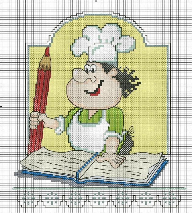 повар с карандашом (629x700,