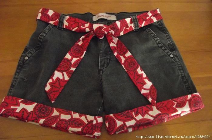 Как сшить шорты из старых джинсов своими руками