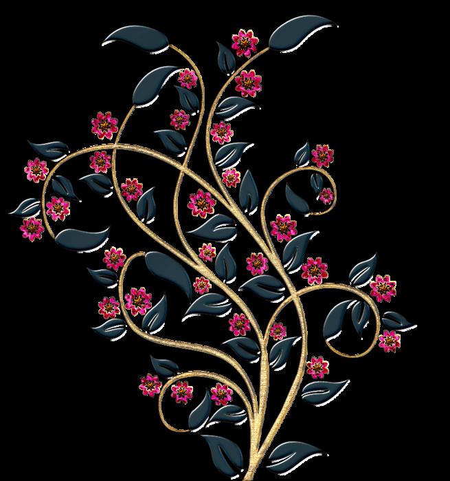 Картинки абстракция цветы черно белые 2