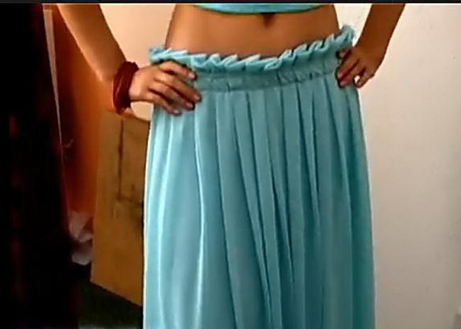 Как сшить юбку в складку с резинкой 964