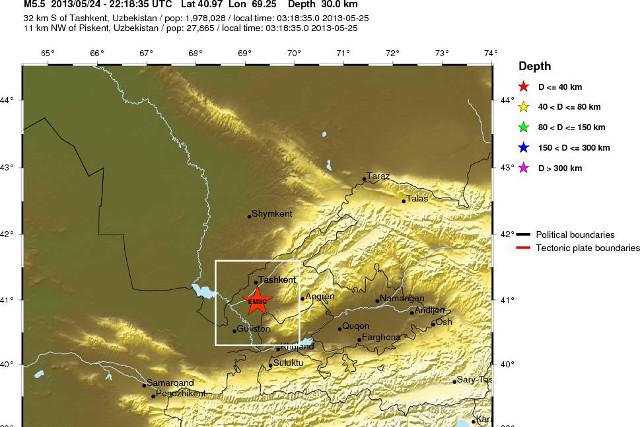 Землетрясение в Ташкенте 25 мая в 3:18.