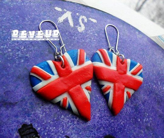 """Поиск по сайту  """"Как сделать серьги британский флаг из пластики """" ."""