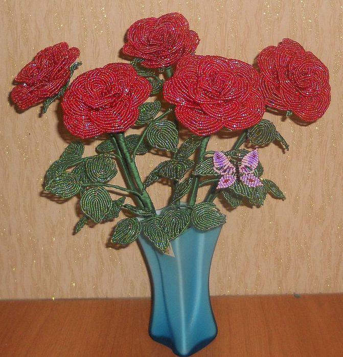 Цветы ручной работы. розы из бисера.  Лилия.  Ярмарка Мастеров.