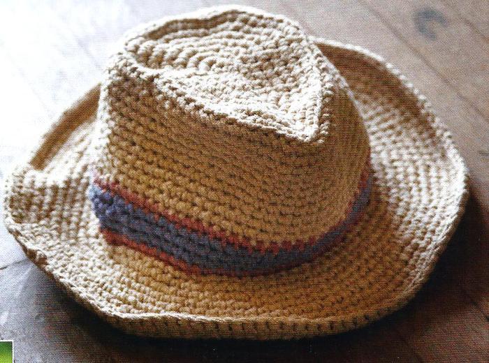 Ковбойская шляпа крючком.