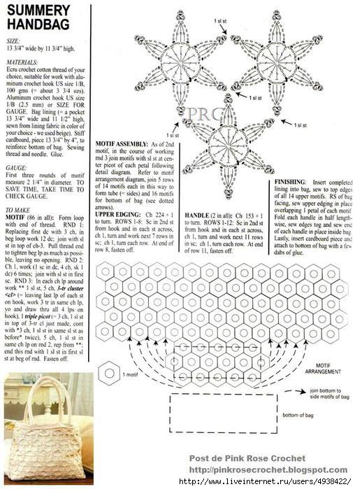 Bolsa Flores de Croche - Summery Handbag - Gr . PRoseCrochet (508x700, 234Kb)