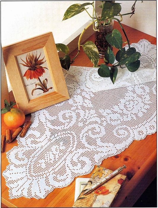 вязание крючком. салфетки скатерти подушки (7) (532x700, 390Kb)