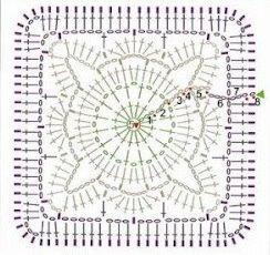 вязание крючком. салфетки скатерти подушки (20) (244x230, 20Kb)