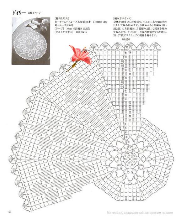 вязание крючком. салфетки скатерти подушки (41) (561x700, 131Kb)