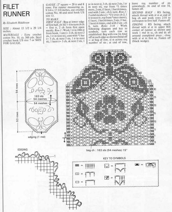 вязание крючком. салфетки скатерти подушки (46) (568x700, 256Kb)