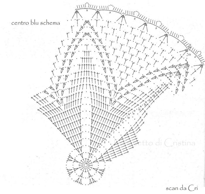 вязание крючком. салфетки скатерти подушки (47) (700x661, 216Kb)