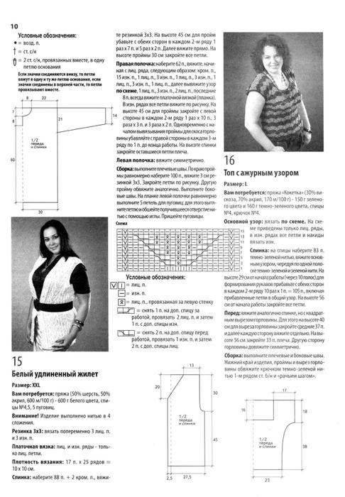 Схемы для вязания для солидных дам