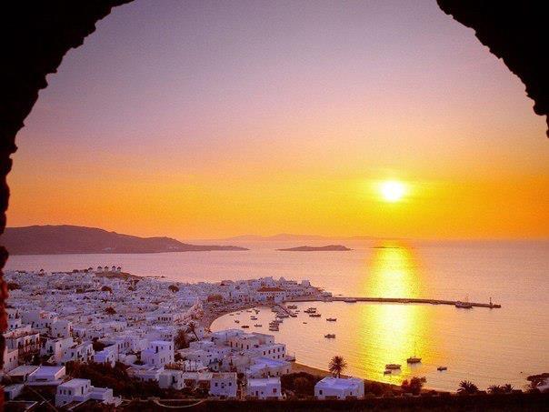 о. Крит на закате, Греция (604x453, 37Kb)