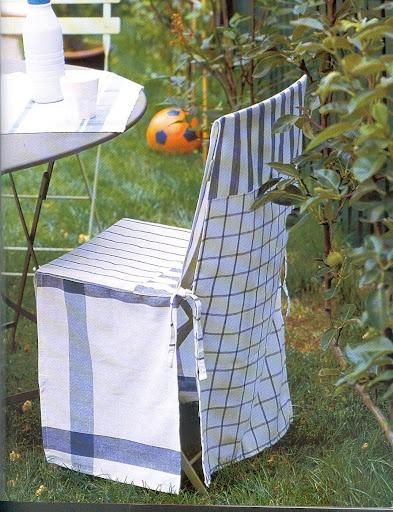 Чехлы на стулья в кухню своими руками