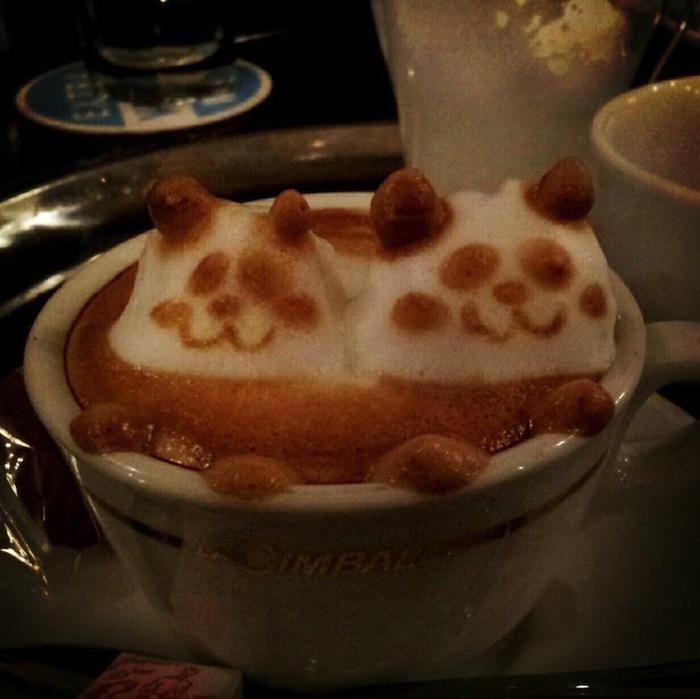 рисунки на кофе фото Кацуки Ямомото 8 (700x699, 97Kb)