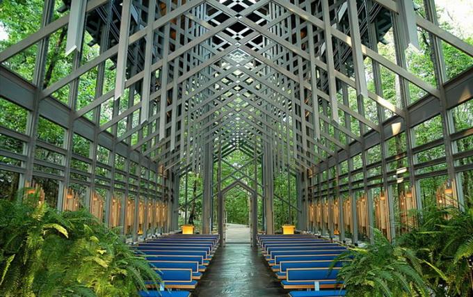 церковь Thorncrown фото 1 (680x427, 179Kb)