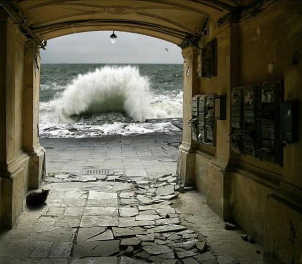 """У поэта Рядченко есть сборник стихов, посвященных Одессе.  Называется  """"Улицы впадают в океан """".  Как это фото увидела..."""