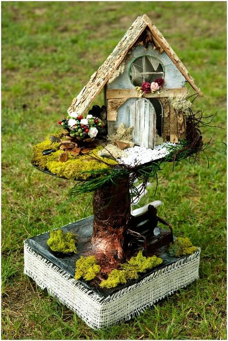 Декоративный домик своими руками фото
