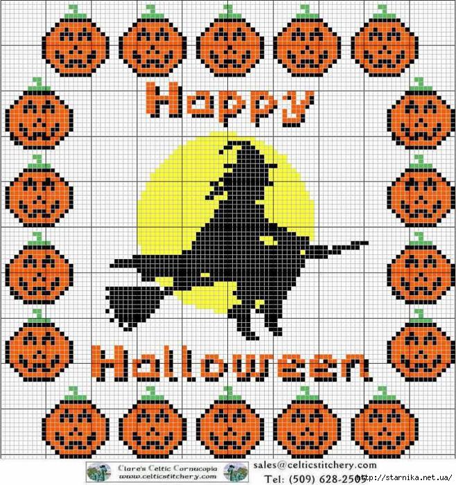 Вышивка крестом halloween