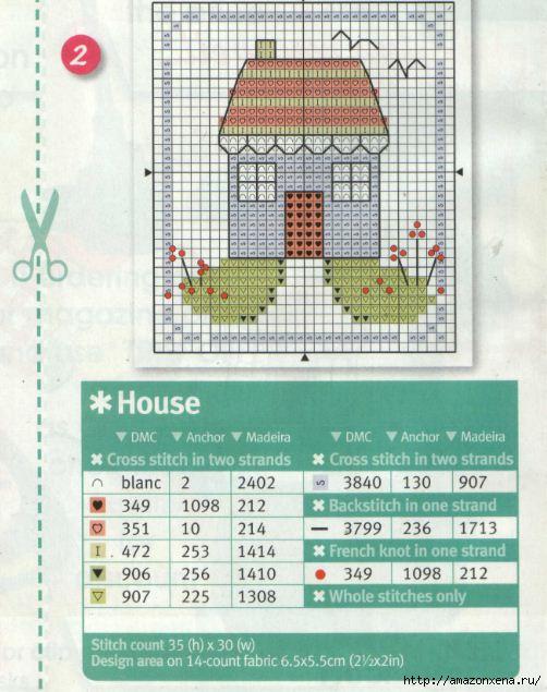 Схема вышивки домика (1)
