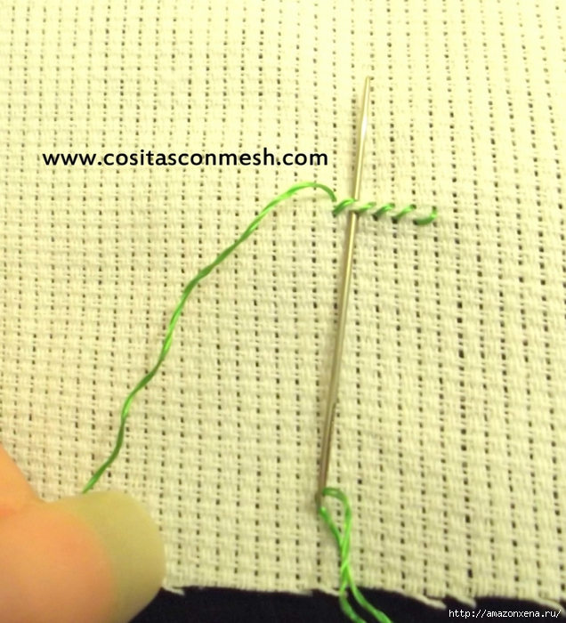 Маленькая вышивка ДОМИК. Схема вышивки домика (3) (636x700, 306Kb)