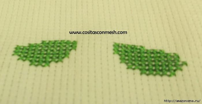 Маленькая вышивка ДОМИК. Схема вышивки домика (5) (700x360, 91Kb)