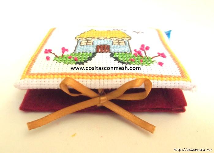 Маленькая вышивка ДОМИК. Схема вышивки домика (11) (700x499, 140Kb)