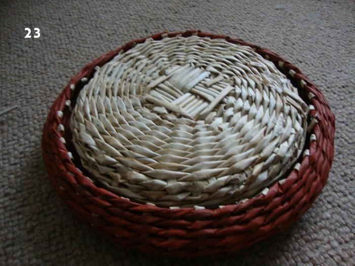 Плетение из газет. Объемная вазочка для фруктов (21) (700x525, 295Kb)