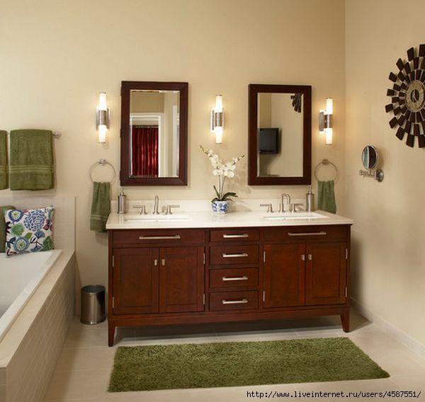 Ways to hang towels in bathroom