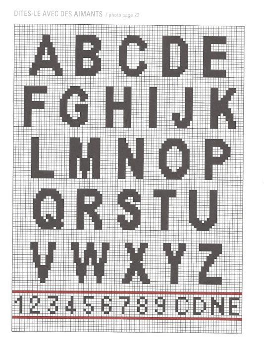 Русский алфавит схемы для вязания 6210