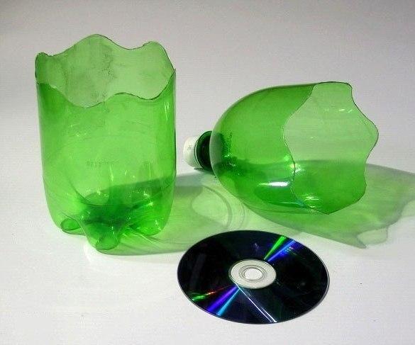 Ваз для цветов своими руками из пластиковой бутылки