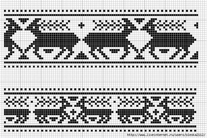 бордюр с оленями (700x467,