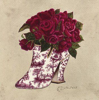 red toile shoe (350x351, 35Kb)