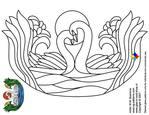 Превью glass pattern 036 Love swan (700x540, 170Kb)