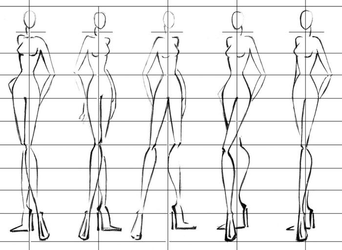 Как рисовать модели для дизайна одежды