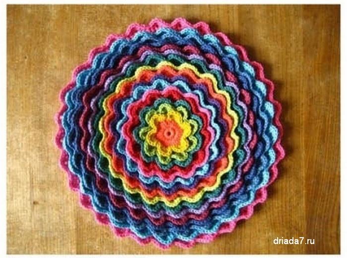 <схема вязания цветов крючком